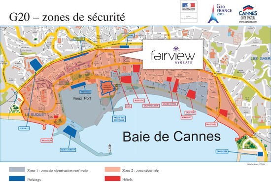 G20 à Cannes les 3 et 4 novembre 2011