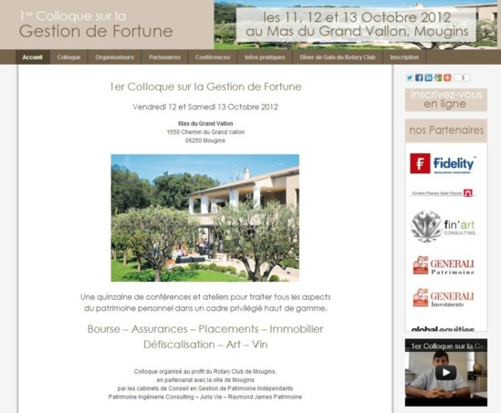 Intervention de Barbara Baldassari au 1er Colloque de la Gestion de Fortune le samedi 13 octobre 2012 à Mougins